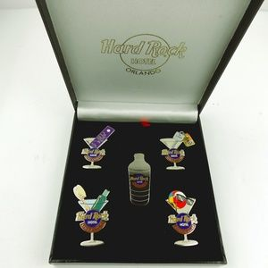 Jewelry - Hard Rock Hotel ORLANDO 2001 MARTINI 5 PIN set